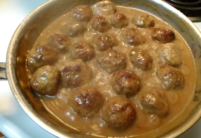 Swedish-style Meatballs with Eggnog