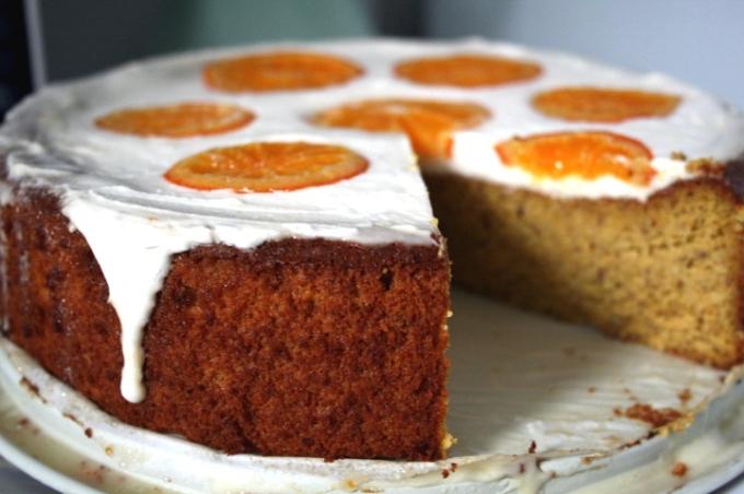 ... mini apricot cake recipe made with a rustic cornmeal cake batter